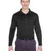Long Sleeve Polos - Ultra Club (Black)
