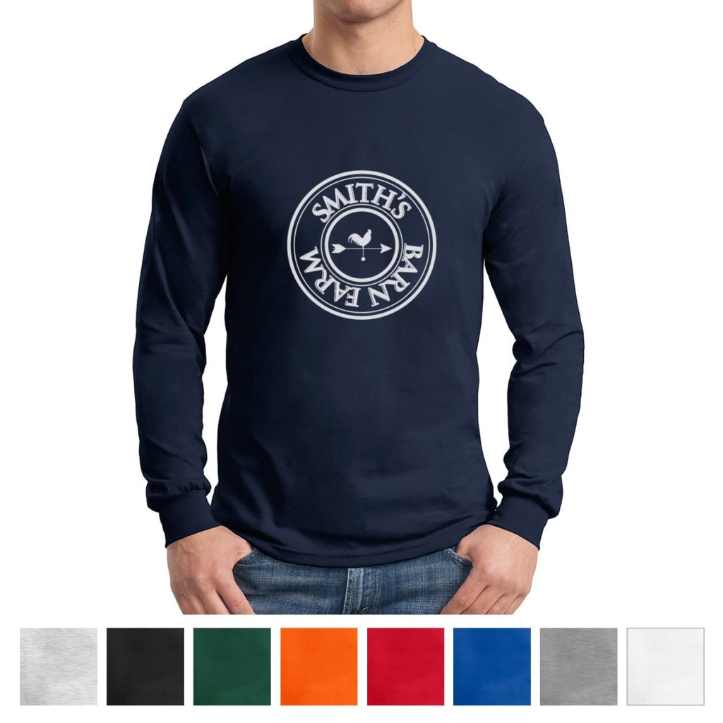 Long Sleeved T Shirt Printing in VA and MD